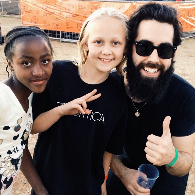 Brendon with young fans as Krank'd Up festival