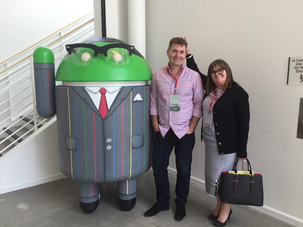 CSO Cam Wallace and CPO Lorraine Murphy at Google